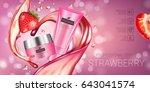 strawberry skin care series ads....   Shutterstock .eps vector #643041574