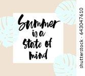 summer lettering in vector... | Shutterstock .eps vector #643047610
