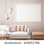 mock up poster with vintage...   Shutterstock . vector #643051786