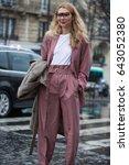 paris march 4  2017.street... | Shutterstock . vector #643052380