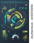 infographhic background  vector ... | Shutterstock .eps vector #643053040