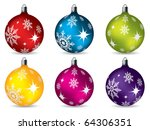 bright christmas decorations | Shutterstock .eps vector #64306351