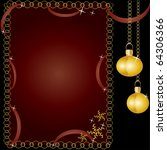 beautiful card by new year and... | Shutterstock .eps vector #64306366