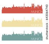 munich skyline silhouette city