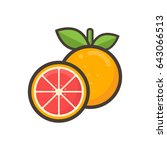cartoon grapefruit | Shutterstock .eps vector #643066513