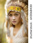 Small photo of American indian woman.