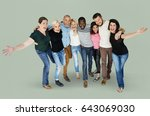 diversity men and women group... | Shutterstock . vector #643069030