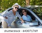 portrait of senior woman... | Shutterstock . vector #643071769