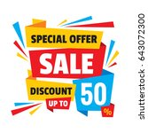 sale discount up to 50   ... | Shutterstock .eps vector #643072300