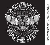 motorcycle iron wings motor... | Shutterstock .eps vector #643073560