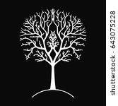 tree silhouette black and white ... | Shutterstock .eps vector #643075228