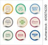 modern bubble speech sticker... | Shutterstock .eps vector #643076230