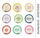 modern bubble speech sticker... | Shutterstock .eps vector #643076263
