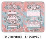 flyer template with vintage... | Shutterstock .eps vector #643089874