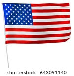 american flag isolated on white | Shutterstock . vector #643091140