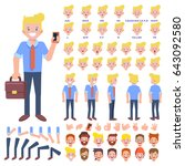 vector manager character for...   Shutterstock .eps vector #643092580