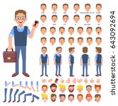 vector manager character for... | Shutterstock .eps vector #643092694