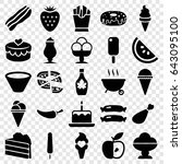 tasty icons set. set of 25... | Shutterstock .eps vector #643095100