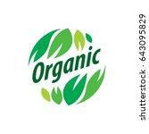 vector logo organic | Shutterstock .eps vector #643095829