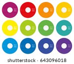 cd with colored blank labels  ... | Shutterstock .eps vector #643096018
