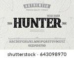 font.alphabet.script.typeface... | Shutterstock .eps vector #643098970