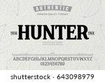 font.alphabet.script.typeface... | Shutterstock .eps vector #643098979