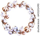 beautiful wreath with... | Shutterstock . vector #643101490