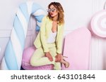 close up summer  fashion ... | Shutterstock . vector #643101844
