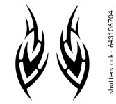 tribal tattoo art designs....   Shutterstock .eps vector #643106704