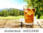 Cold Ice Tea And Tree With...