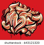color funky graffiti arrows | Shutterstock .eps vector #643121320