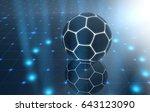 a futuristic sports concept of... | Shutterstock . vector #643123090