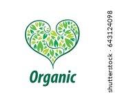 vector logo organic | Shutterstock .eps vector #643124098