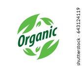 vector logo organic | Shutterstock .eps vector #643124119