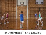 high school boy about to take a ... | Shutterstock . vector #643126369