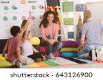 polyglot children answering... | Shutterstock . vector #643126900