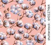 watercolor seamless texture ... | Shutterstock . vector #643127464