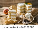 Small photo of Cake and a piece of cake on the table