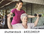 Senior Woman Workout In...