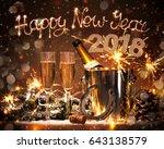 new years eve celebration... | Shutterstock . vector #643138579
