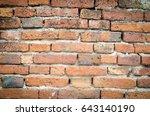 old brick wall. | Shutterstock . vector #643140190