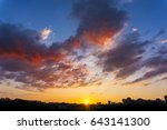 amazing sunset at city.... | Shutterstock . vector #643141300