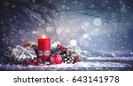 advent decoration with one... | Shutterstock . vector #643141978