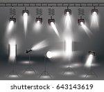 spotlight set with different... | Shutterstock .eps vector #643143619