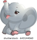 beautiful cute elephant | Shutterstock .eps vector #643144060