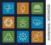 social icons set. set of 9... | Shutterstock .eps vector #643146520