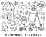 doodle sketch. set with... | Shutterstock .eps vector #643146598