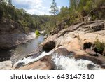 the famous woolshed waterfalls... | Shutterstock . vector #643147810