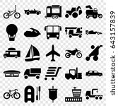 transport icons set. set of 25... | Shutterstock .eps vector #643157839
