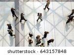 commuters walking. background... | Shutterstock . vector #643157848